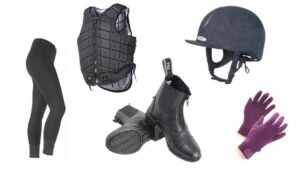 Horse riding kit for beginners